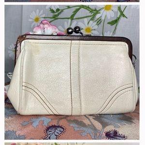 Vintage leather coach wallet clutch coin purse